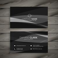 dark black business card template vector design illustration