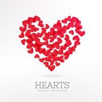 Fondo de juego de casino corazones rojos