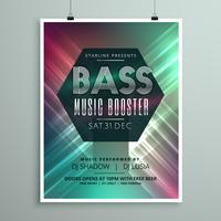 stijlvolle muziek flyer folder folder sjabloon voor uw evenement
