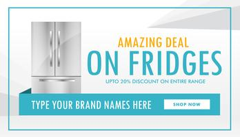 fridge deal banner design with offer details