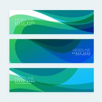stylish banners set with colorful wave