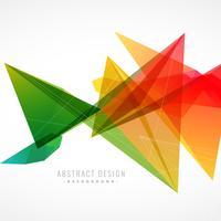 Fondo colorido abstracto con estilo con formas geométricas