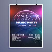 cosmos music party event flyer template in modern creative style