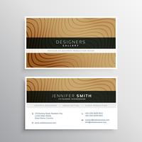 brown business card template with abstract wavy lines