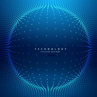 pontos malha formando esfera futurista fundo vector design