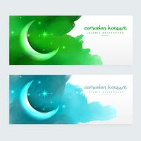 ramadan banners design with moon