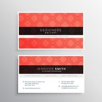 red business identity card template