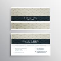 Unternehmensvisitenkarte mit sauberem Muster