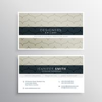 corporate business card with clean pattern