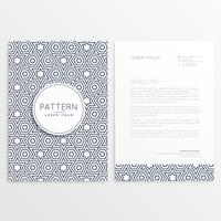design de cabeçalho frente e verso com formas de padrão