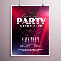 nightclub party flyer template design with event details
