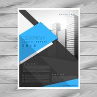 modelo de design de brochura de negócios modernos em geométrico preto azul