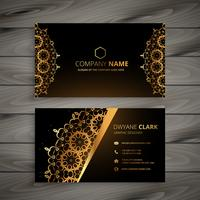 luxury golden ornament business card vector design illustration