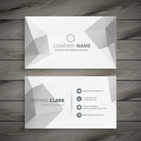 gray polygonal business card template vector design illustration
