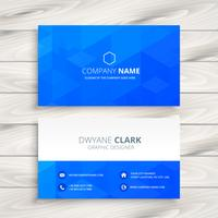 blue abstract business card vector design illustration