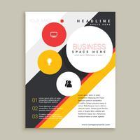 présentation de modèle de brochure créative
