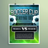 soccer cup semifinal game versus two teams