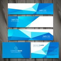 Business Stationery Collection inklusive webb banners och busines