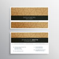 minimal business card design template with elegant pattern