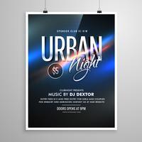 affiche de modèle de musique urbain nuit flyer