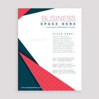 minimal business flyer design leaflet cover page design in A4