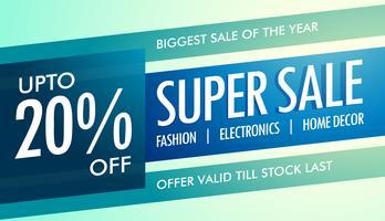 super försäljning banner mall för din marknadsföring