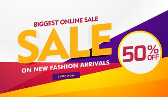 Mayor venta en línea cartel banner plantilla de diseño
