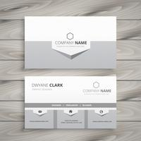 clean gray business card template vector design illustration