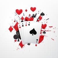 four aces poker card illustration