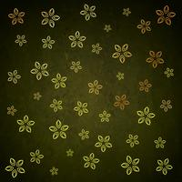 green golden flower leaf background pattern design