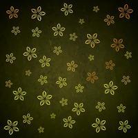 Diseño de patrón de fondo de hoja de flor de oro verde
