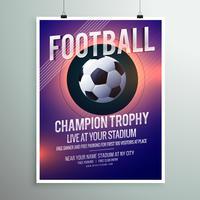 Plantilla de folleto de fútbol campeonato trofeo volante