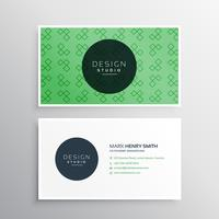 green professional elegant business card design with pattern