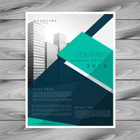 modern geometric abstract brochure flyer design