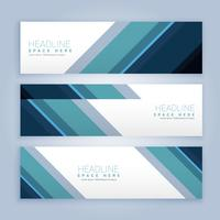 banners set in business style colors