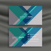 kreativ visitkortdesign vektor med geometriska former
