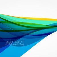 vetor de fundo abstrato da onda azul