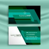 abstract green business card design template
