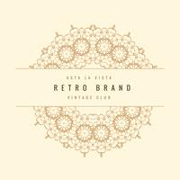 marco ornamental retro