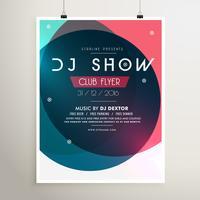 modèle de flyer événement génial fête de la musique avec des formes colorées