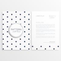 design de papel timbrado elegante com frente e verso
