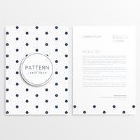 elegant letterhead design with front and back sides