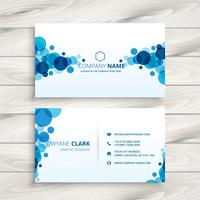 blue transparent circles business card template vector design il