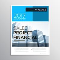 stijlvolle moderne zakelijke brochure en flyer-sjabloon met blauwe sh