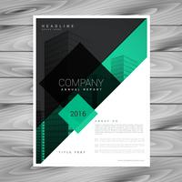 fantastisk broschyrdesign i gröna svarta färger