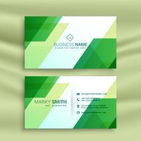 modèle de carte de visite verte avec des formes abstraites