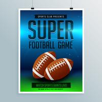 super football game flyer template