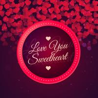 love you sweetheart background vector design illustration
