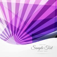 abstrakter funky lila Hintergrund mit Strahlen und geometrischen Formen