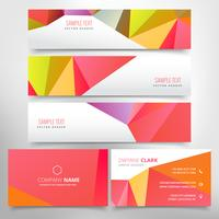 red poly business stationary set